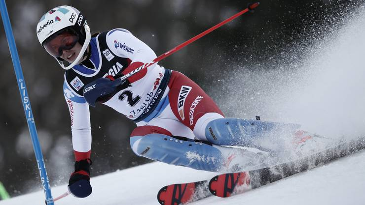 Michelle Gisin im Slalom vom Zagreb im Januar 2020.