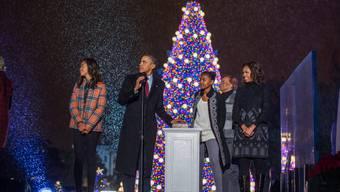 Alles nur für die Fotografen inszeniert? Im Hause Obama soll es heftig kriseln.