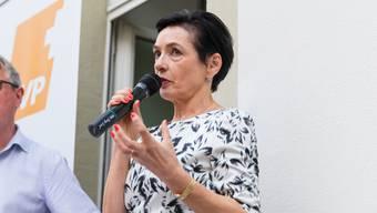 2015 forderte Marianne Binder, hier am Parteitag der CVP 2018, umfassendere Kontrollen beim Homeschooling.