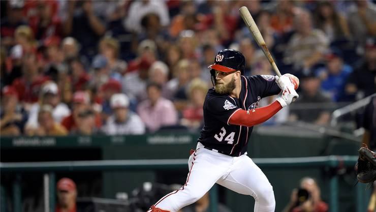 Baseballer Bryce Harper hat bei den Philadelphia Phillies einen neuen 13-Jahre-Vertrag für 330 Millionen Dollar unterschrieben – Rekord im US-Sport.Keystone