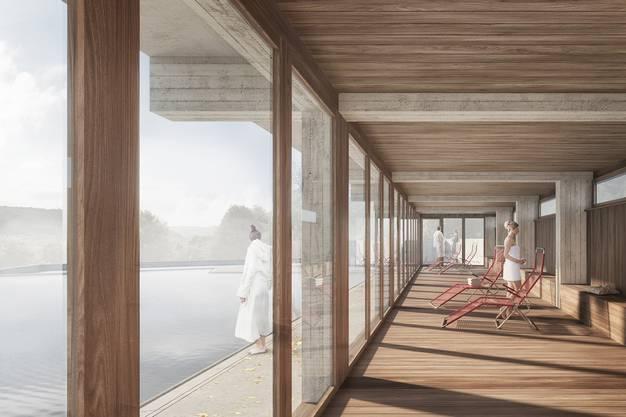 Erweitert werden soll unter anderem der Saunabereich.