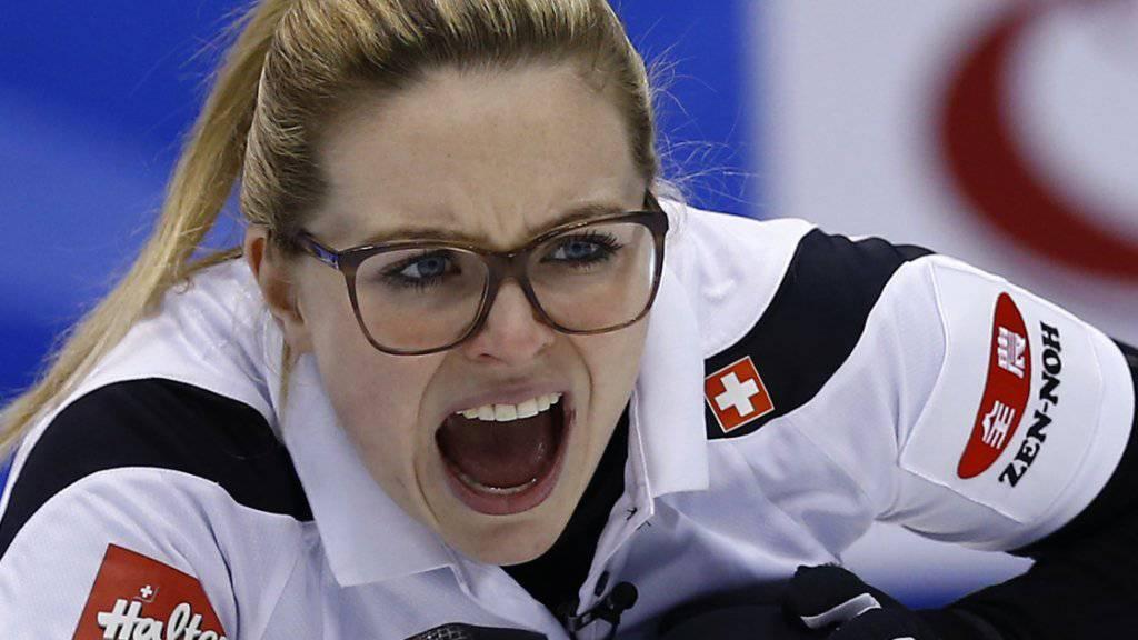 Alina Pätz legt ihre ganze Energie in den Match