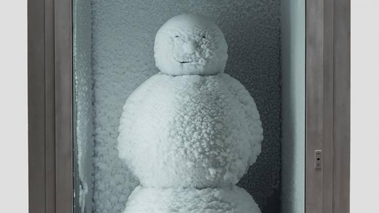 """Nach vielen Stationen in aller Welt gastiert der """"Snowman"""" des Künstlerduos Fischli/Weiss zur Zeit vor dem New Yorker MoMA. (zVg)"""
