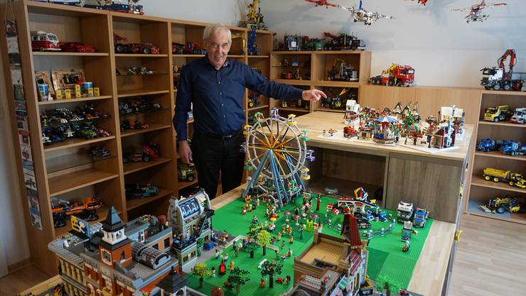 «Herberts Legoland»: 140 verschieden Modelle hat Herbert Hunziker seit seiner Pensionierung vor zehn Jahren zusammengebaut und in sein Lego-Zimmer gestellt.