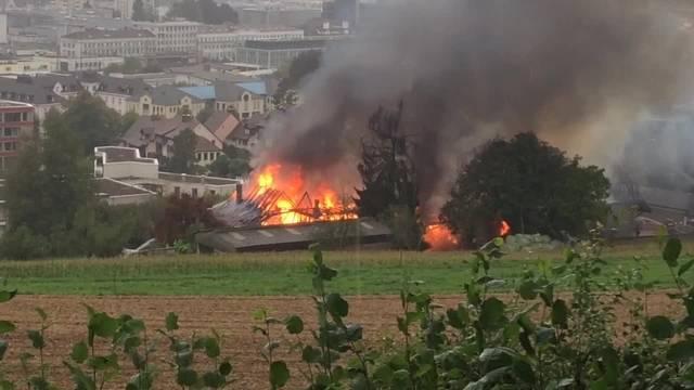 Brand im Hirzenberg-Hofs in Zofingen (31.08.2017)