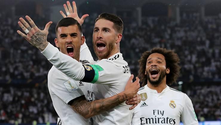 Real Madrid und Captain Sergio Ramos gewannen zum dritten Mal in Folge die Klub-WM