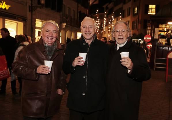 Jean-Claude Strebel, Hansjörg Boll und Urs Rudolf freuen sich