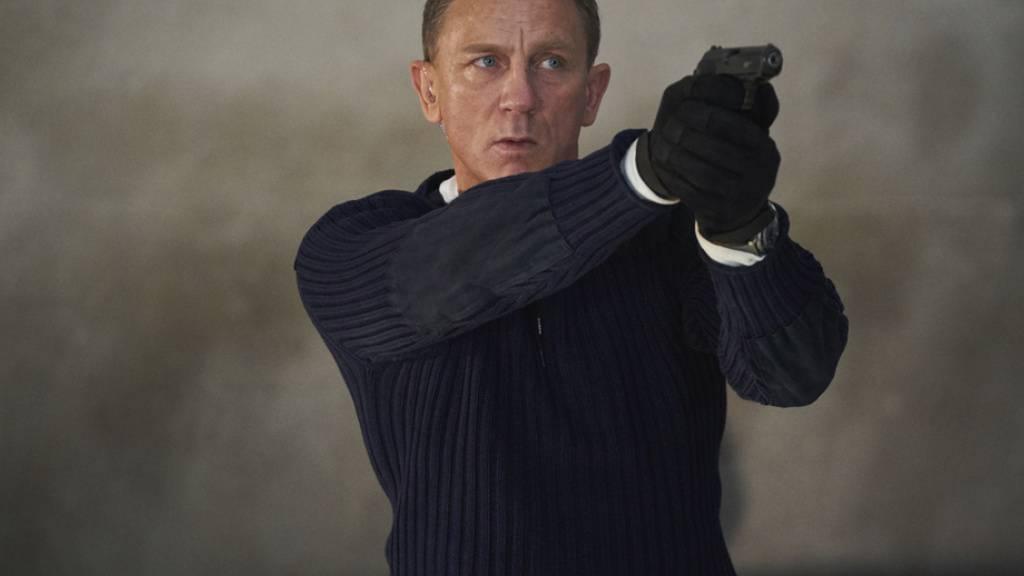 Daniel Craig in «No Time To Die»: In Grossbritannien und Irland hat der Geheimagent mit seinem neuesten Streifen den Rekord an den Kinokassen gebrochen - nicht so in der Schweiz.