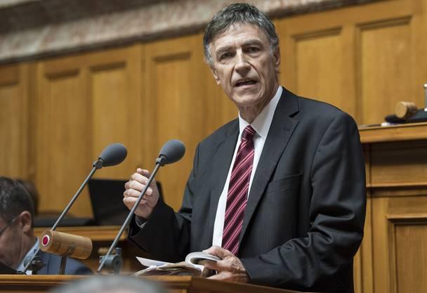 SVP-Nationalrat Luzi Stamm trat bei Ivo Sasek auf.