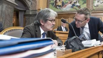 Wie geht es mit ihnen weiter? Die beiden Solothurner Ständeräte Roberto Zanetti und Pirmin Bischof.