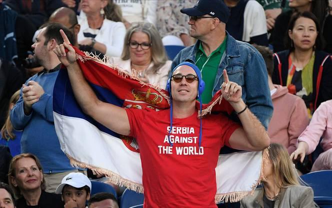 «Serbien gegen die Welt»: Ein Bild, das Novak Djokovic missfällt.