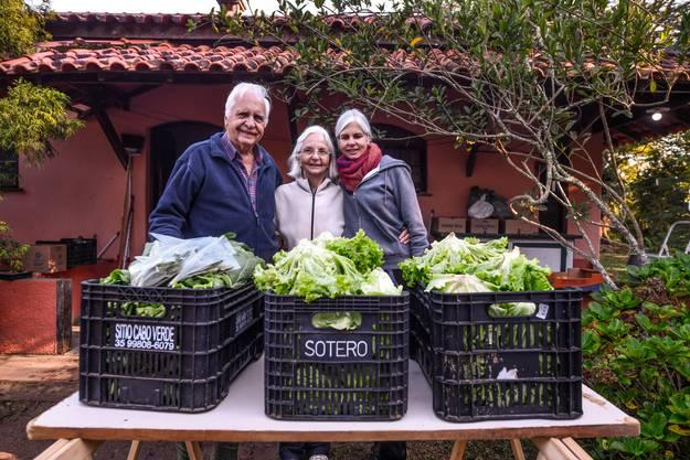 Auch die Familie Moll ist von der Krise betroffen: Von links nach rechts Peter, Lilian und Sonja Moll.