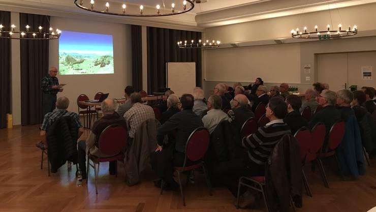 Der gut besuchte Vortrag des Vereins Thaler Landschaft ohne Windräder.
