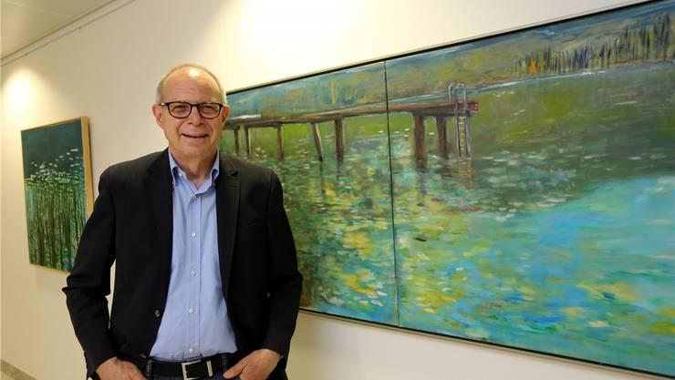 Reto Orfei zeigt seine Bilder im Kantonsspital Olten.