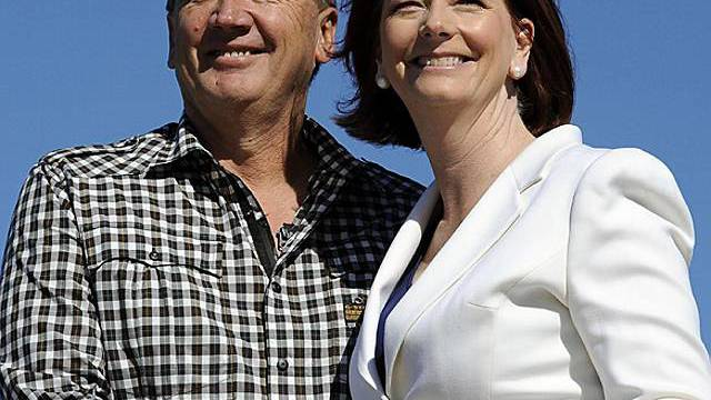 Julia Gillard mit Partner Tim Mathieson