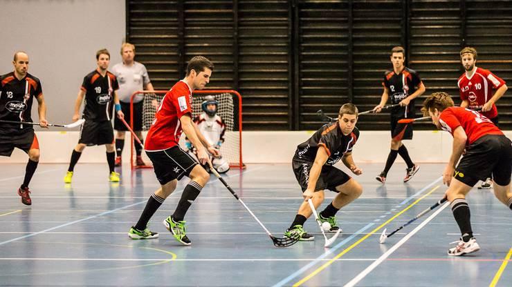 V.l.(in schwarz) Luca Hänni, Lorenz Kern, Damian Püntner und Nicola Spillmann