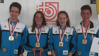 Kevin und Saskia Plaz, Patrick und Nadja Gütiger sicherten sich mit einer konstanten Leistung den Schweizermeister-Titel für den Aargau.