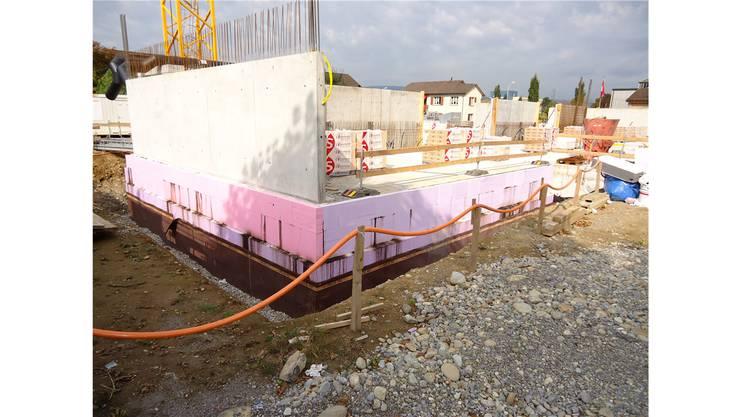 Auf der Baustelle der Überbauung Westside wird nicht gearbeitet.
