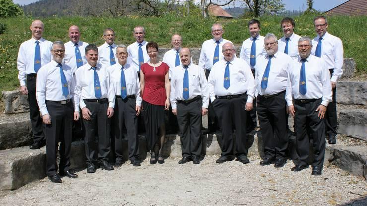 Die Mitglieder des Männerchors