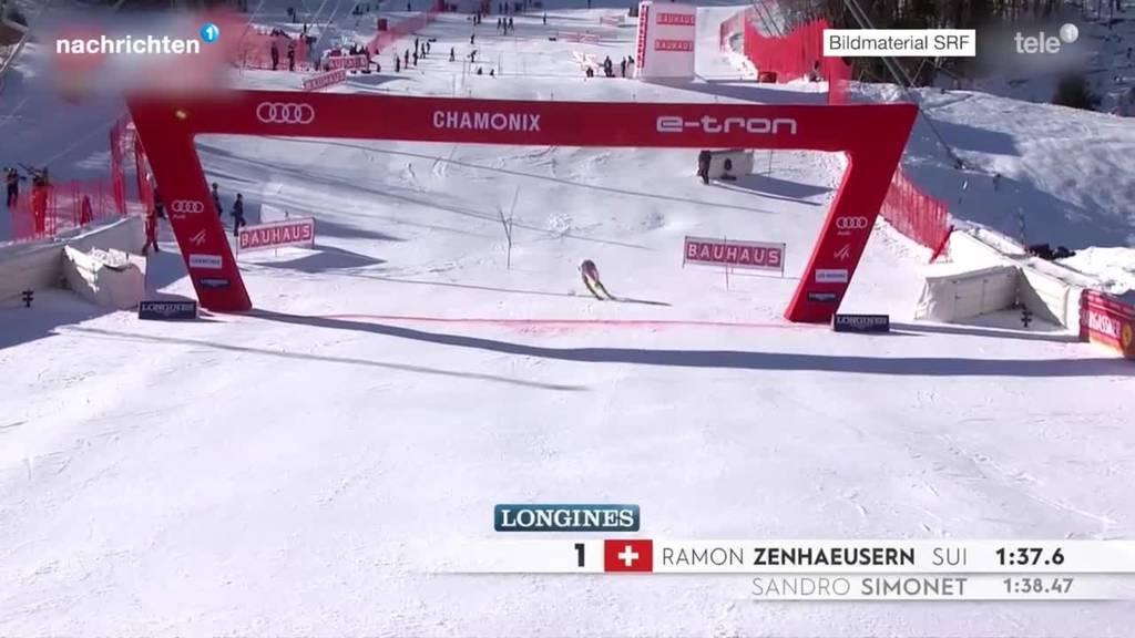 Zwei Schweizer beim Slalom auf Podest