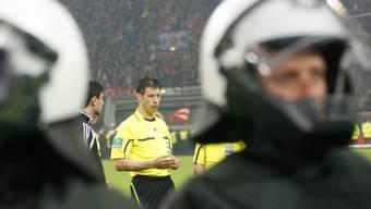 Hauptzeuge bei der Verhandlung: Schiedsrichter Wolfgang Stark