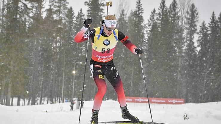 Johannes Thingnes Bö läuft der Konkurrenz davon. (Archivaufnahme)