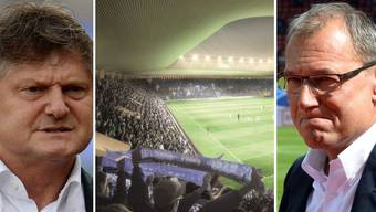 Grosse Enttäuschung bei FCZ-Präsident Ancillo Canepa (l.) und GC-Präsident André Dosé.