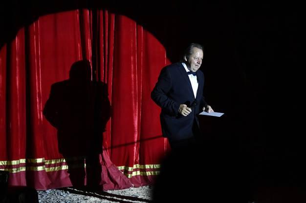 Da war die Welt noch in Ordnung: Beat Breu an der Premiere seines Zirkus-Programms.