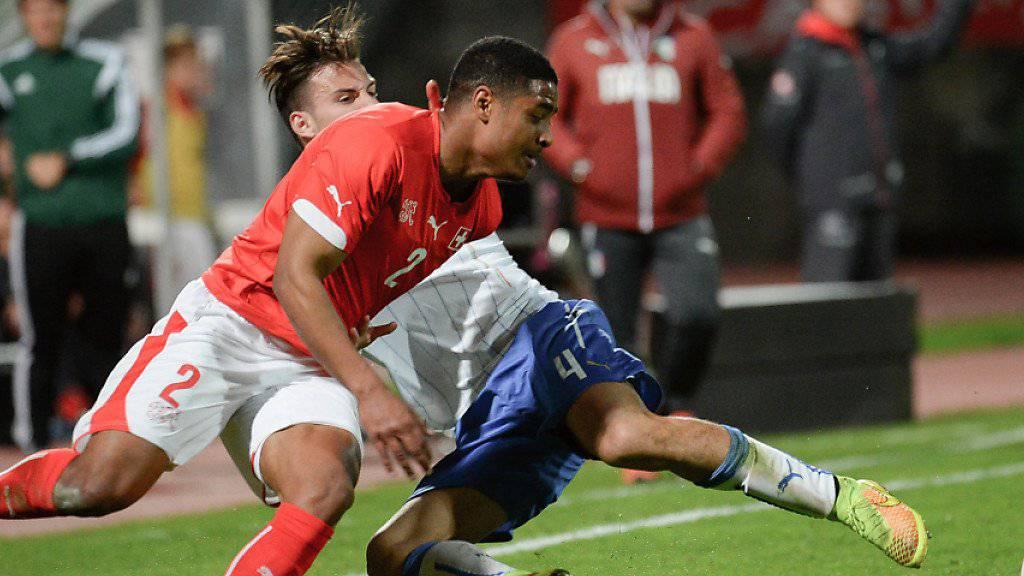 Saidy Janko (hier im Dress der Schweizer U21-Auswahl) spielt künftig für Saint-Etienne