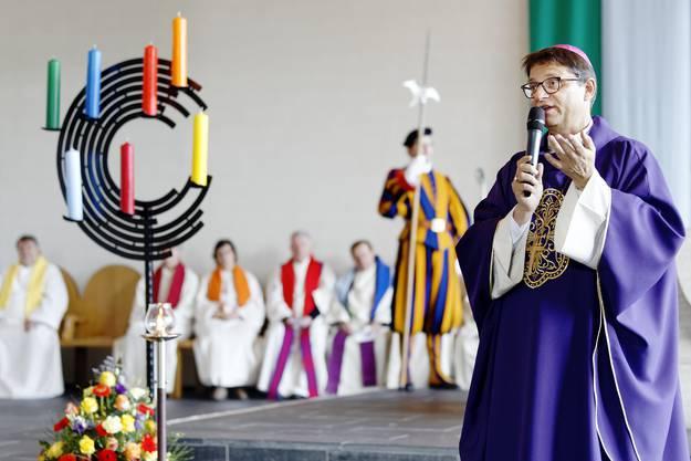 Errichtungsgottesdienst Pastoralraum Aare-Rhein mit einem Gottesdienst mit Bischof Felix Gmür in der katholischen Kirche Döttingen.