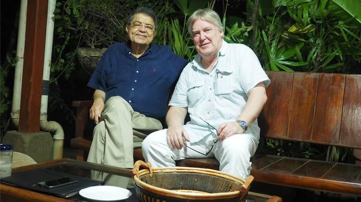 Der ehemalige nicaraguanische Vizepräsident Sergio Ramírez und «Nordwestschweiz»-Autor Max Dohner.