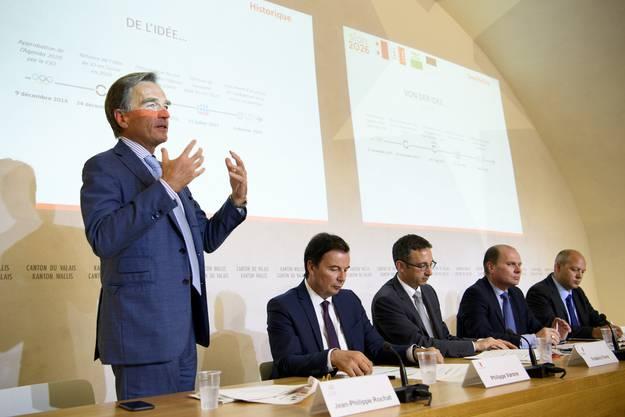 Er stellte das Projekt Sion 2026 im Juni 2017 in Sitten vor.