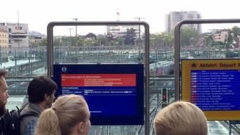 Ein technischer Defekt an der Fahrleitung führte am Mittwochmorgen zum Stromausfall im Bahnhof Bern.