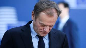 EU-Ratspräsident Donald Tusk verfügt in seinem Heimatland Polen über keinen Rückhalt.Olivier Hoslet/EPA/Keystone