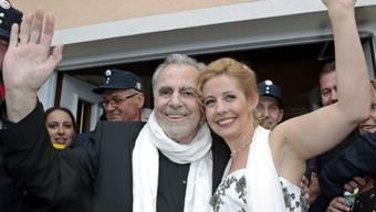 Maximilian Schell und Iva Mihanoic bei der Hochzeit (Archiv 20.8.)