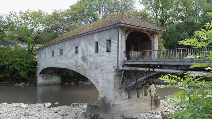 Die Holzbrücke auf der Klosterhalbinsel diente bis 1970 als Kantonsstrasse.