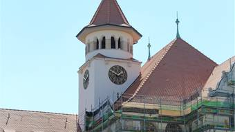Nach den Sanierungsarbeiten ist die prachtvolle Uhr wieder sichtbar.And