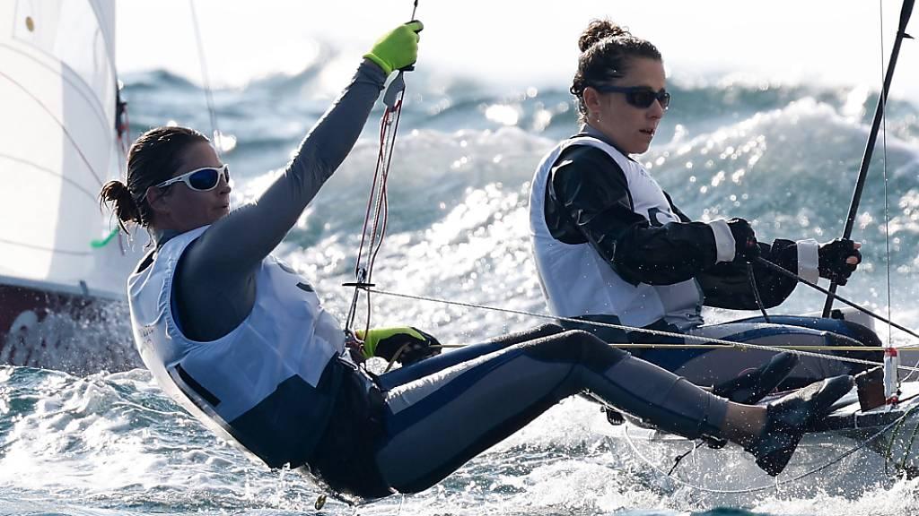 Linda Fahrni und Maja Siegenthaler sind derzeit auf Platz 4 klassiert.