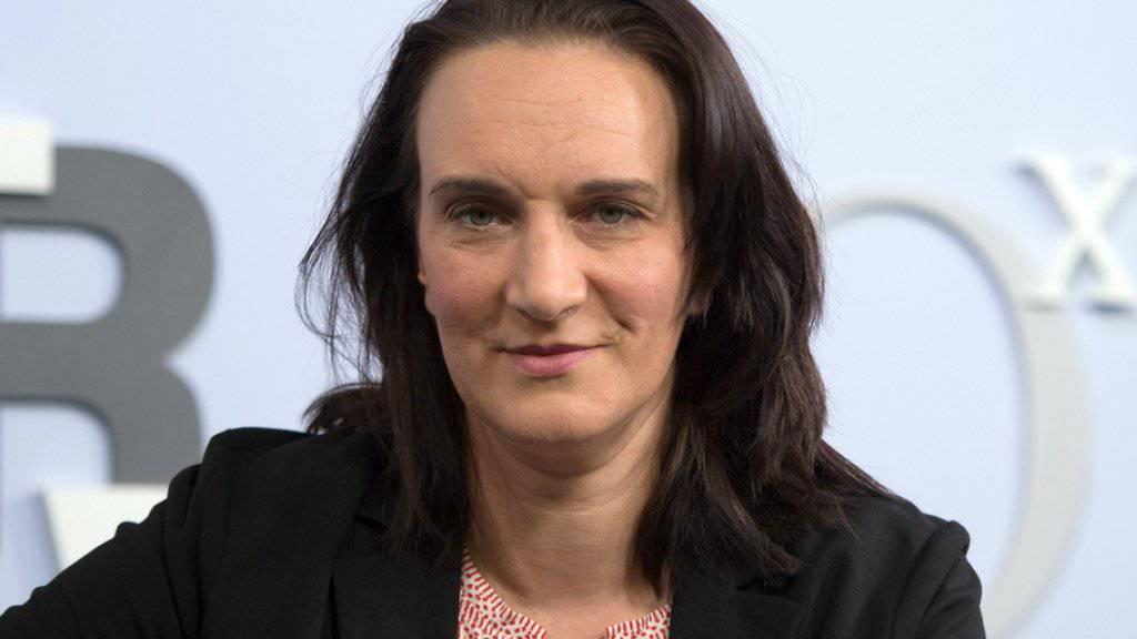 Terézia Mora, aufgenommen im Oktober 2016 auf der Frankfurter Buchmesse in Frankfurt/Main, hat den Bremer Literaturpreis 2017 erhalten. (Archiv)