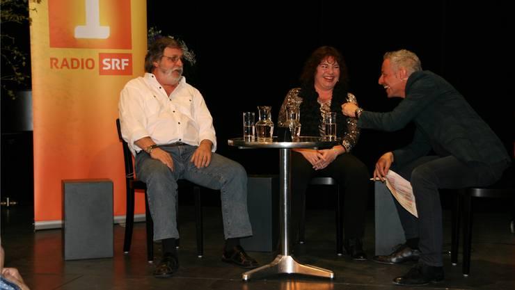 Dani Forlers Gäste, Marc Dietrich (l.) und Wicca Meier-Spring erzählten in der Radiosendung Persönlich im ThiK ihre Lebensgeschichten.Rosmarie Mehlin