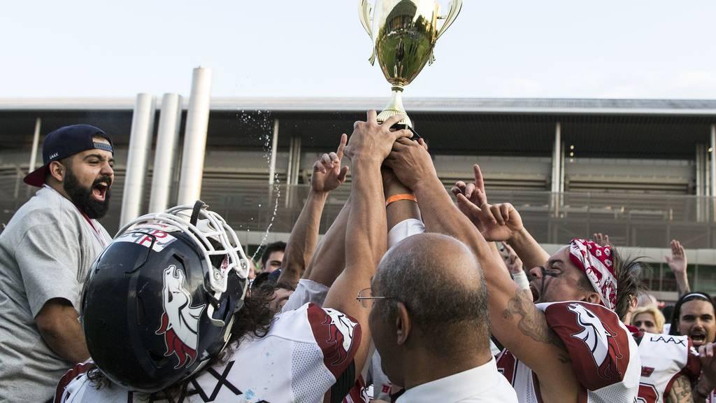 Bereits letztes Jahr haben die Broncos den Meistertitel im Spiel gegen die Genfer gewonnen. (Bild: Archiv)