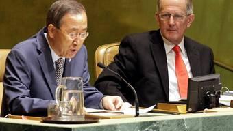 Ein Lob von Ban Ki Moon: Abtretender UNO-Präsident Joseph Deiss
