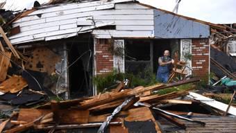 Von einem Tornado zerstörtes Haus in Abilene, Texas.