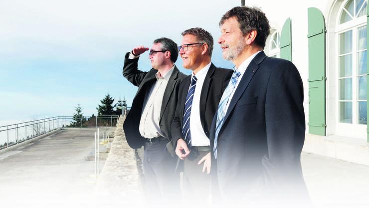 Die Regierungsräte haben den Solothurner Morgennebel hinter sich gelassen.