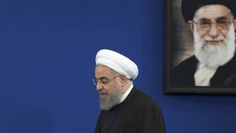 """Der iranische Präsident Hassan Ruhani schliesst """"bilaterale Gespräche"""" seines Landes mit den USA aus. (Archivbild)"""