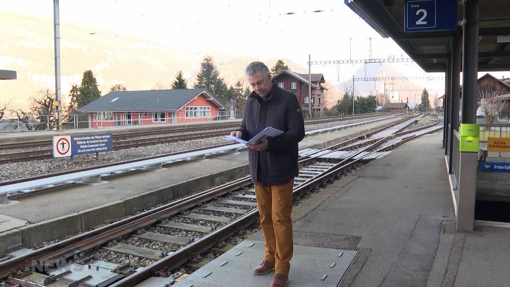 Leissigen: Bevölkerung wehrt sich gegen Auflösung des Bahnhofs