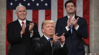 Donald Trump während seiner «State of the Union»-Rede in Washington.