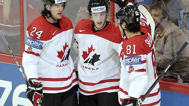 Kanadas Spieler beim Torjubel,