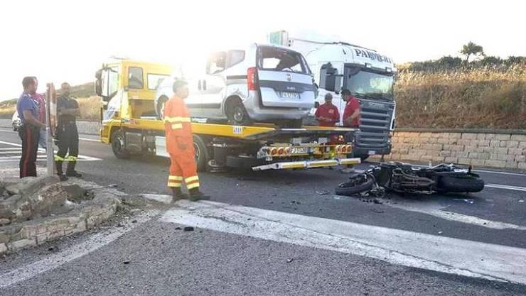 Die Unfallstelle in Italien.