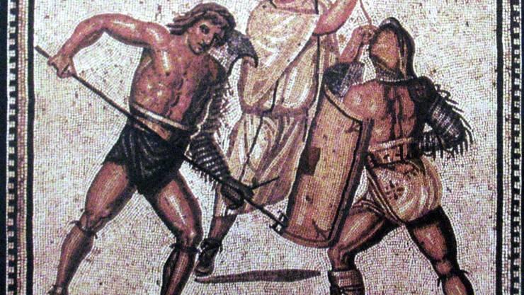 Helden der Arena auf einem Mosaik aus Nennig bei Köln. (zvg)